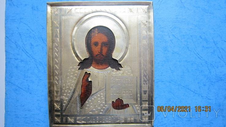 Икона Господь Вседержитель /позолоченный оклад, фото №2