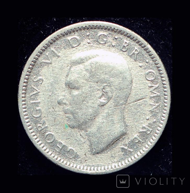 Великобритания 6 пенсов 1937 серебро, фото №3
