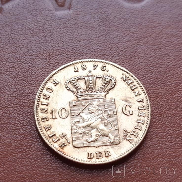 Нидерланды10гульденов,1875, фото №5
