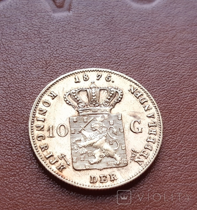 Нидерланды10гульденов,1875, фото №6