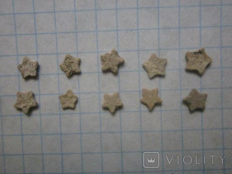 Звёздочки (разновидность морской лилии) 10шт. №9, фото №5