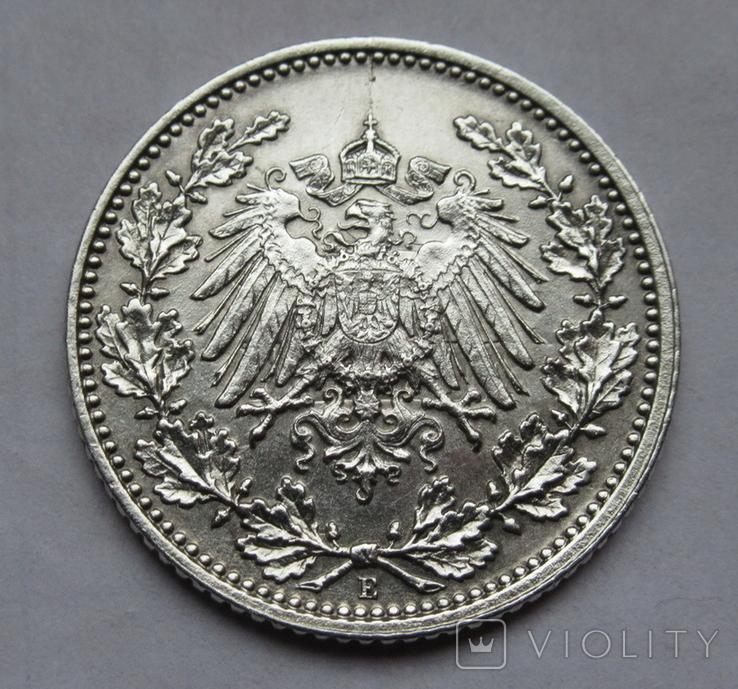 1/2 марки 1919 г. (Е) Германия, серебро, фото №9