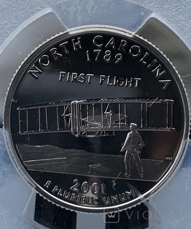 Серебряный четвертак Quarter dollar silver 2001 S PCGS, фото №5