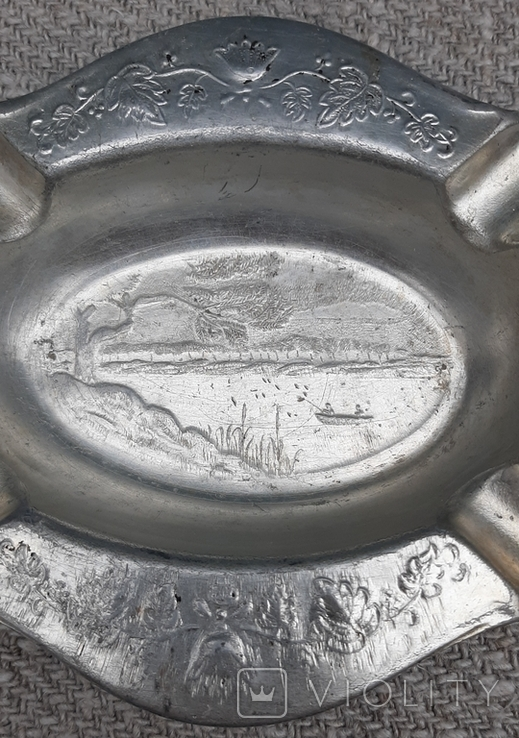 Пепельница Рыбалка,алюминий ЗiШ, фото №7