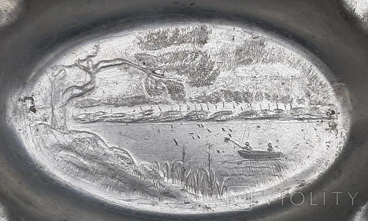 Пепельница Рыбалка,алюминий ЗiШ, фото №9