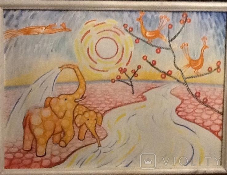 Розовые слоны , худ. Ткаченко Е.Н 49/68, фото №2