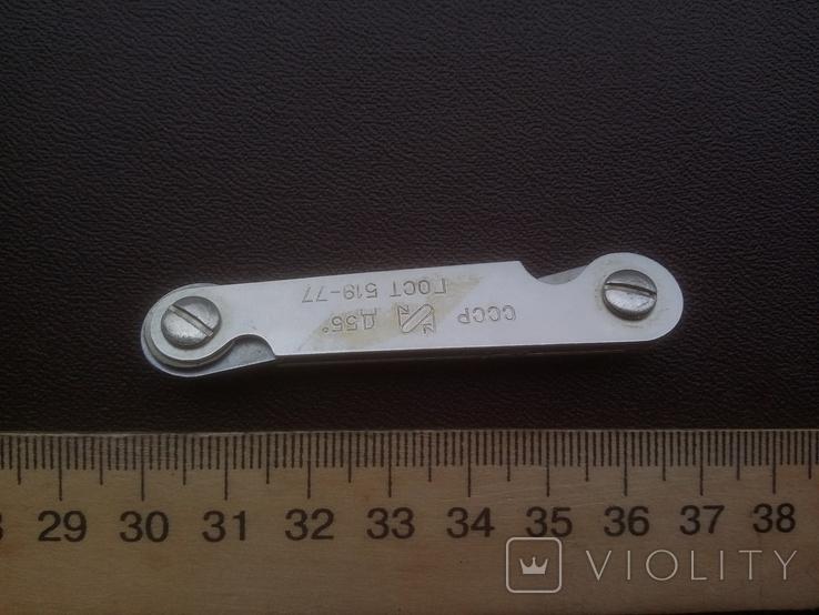 Резьбомер дюймовый ГОСТ 519-77 Д55 четыре вида дюймовой резьбы, фото №10