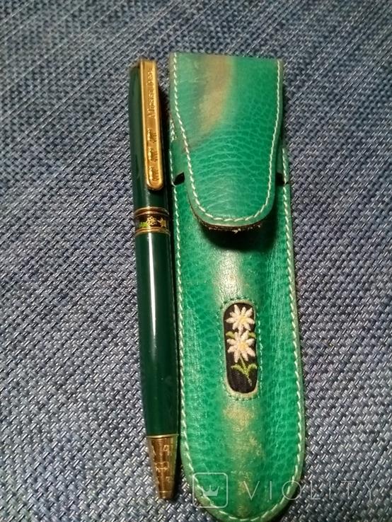 Ручка Michel Jordi позолота, оригинал с чехлом, фото №2
