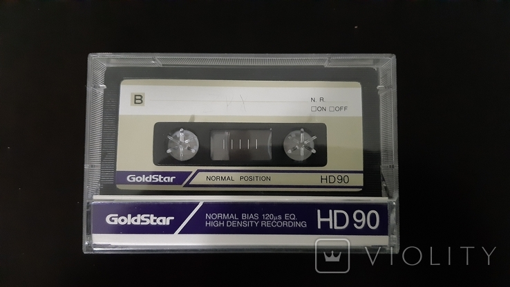 Касета GoldStar HD 90 (Release year 1986-91)
