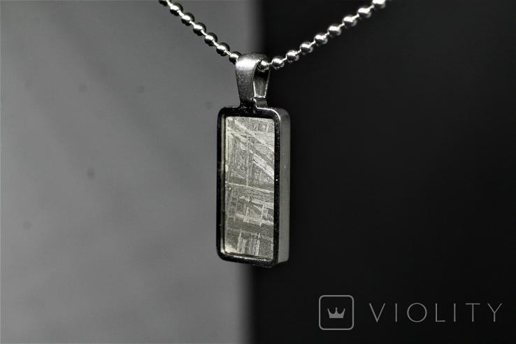 Підвіска із залізним метеоритом Muonionalusta, із сертифікатом автентичності, фото №4