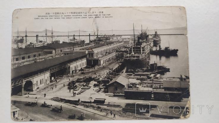 Открытка Япония порт и корабль, фото №3