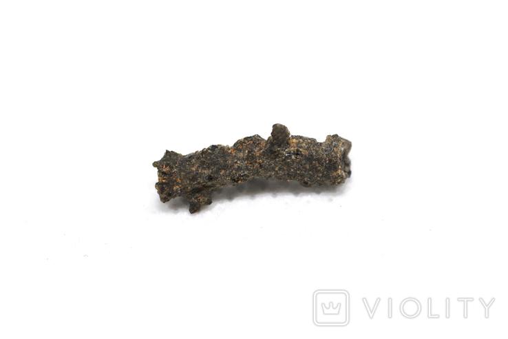 Фрагмент фульгурита, 0,25 грам, з сертифікатом автентичності, фото №5