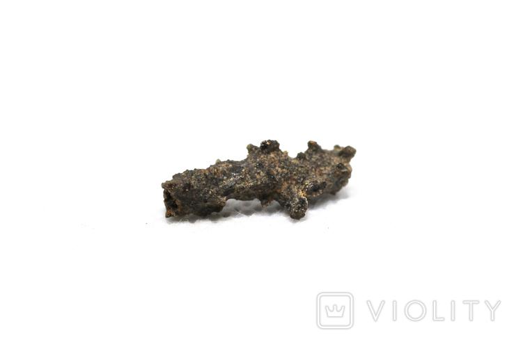 Фрагмент фульгурита, 0,25 грам, з сертифікатом автентичності, фото №6