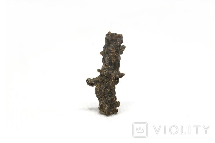 Фрагмент фульгурита, 0,25 грам, з сертифікатом автентичності, фото №7