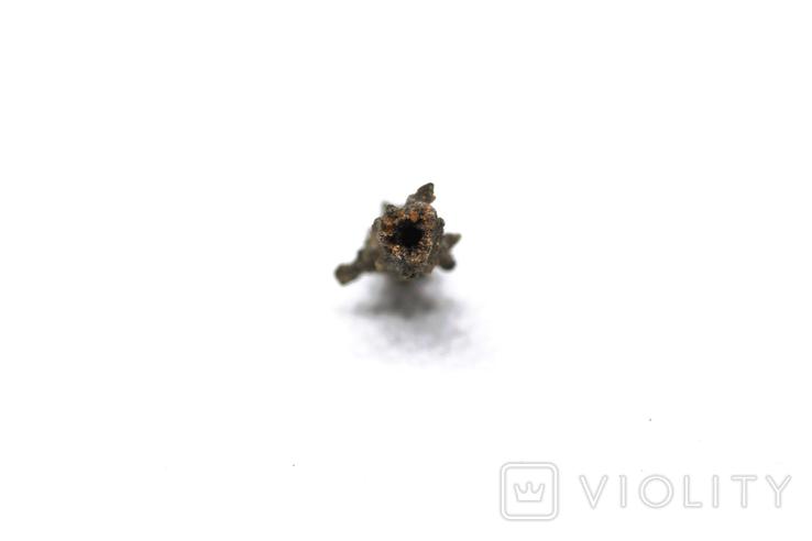 Фрагмент фульгурита, 0,25 грам, з сертифікатом автентичності, фото №9