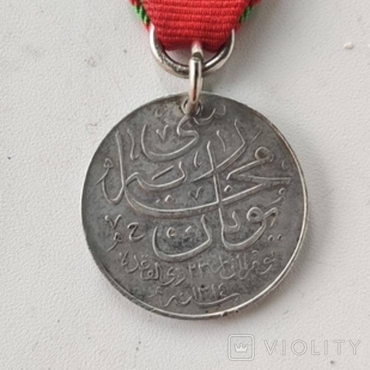 Османская империя медаль за войну с Грецией за Крит 1897 серебро, фото №4
