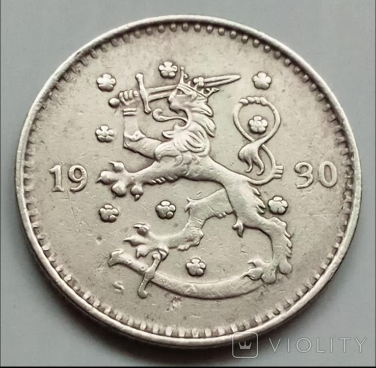 1 марка 1930 г. Финляндия, фото №2