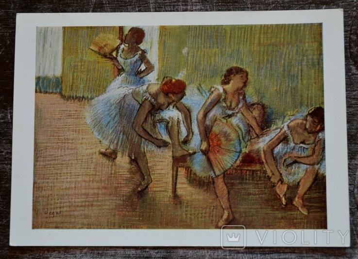 "Винтажная открытка. Edgar Degas: ""Danseuses sur une banquette"". Англия., фото №2"