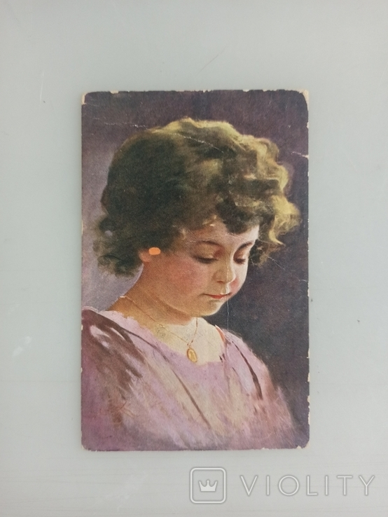 Открытка Девочка Портрет Дети 1 шт. Германия 1910-е годы, фото №2