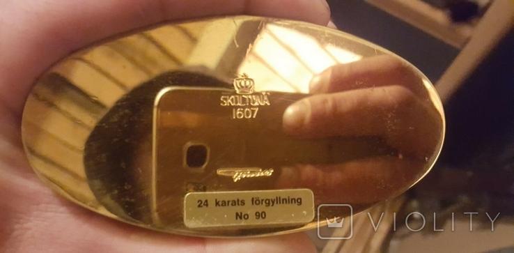 24-каратный позолоченный графин от Skultuna., фото №4