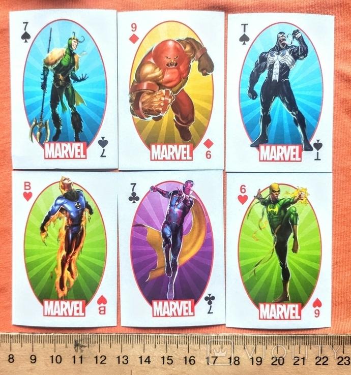 Игральные карты.  Marvel.  Герои Marvel, фото №3