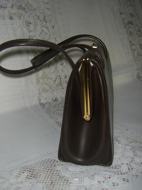 Сумочка винтажная кожаная Англия, фото №4