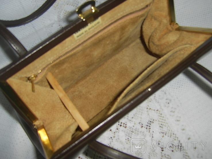 Сумочка винтажная кожаная Англия, фото №6