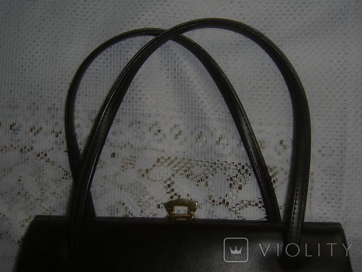 Сумочка винтажная кожаная Англия, фото №9