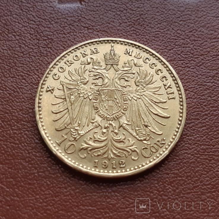 10 крон корон 1912 Австрия, фото №6