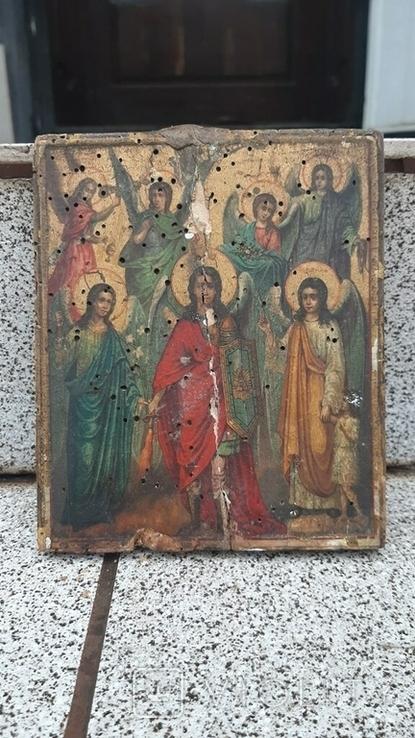 Икона Собор Ангелов 14х11см, фото №2