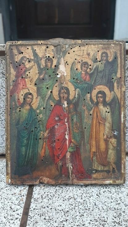 Икона Собор Ангелов 14х11см, фото №4
