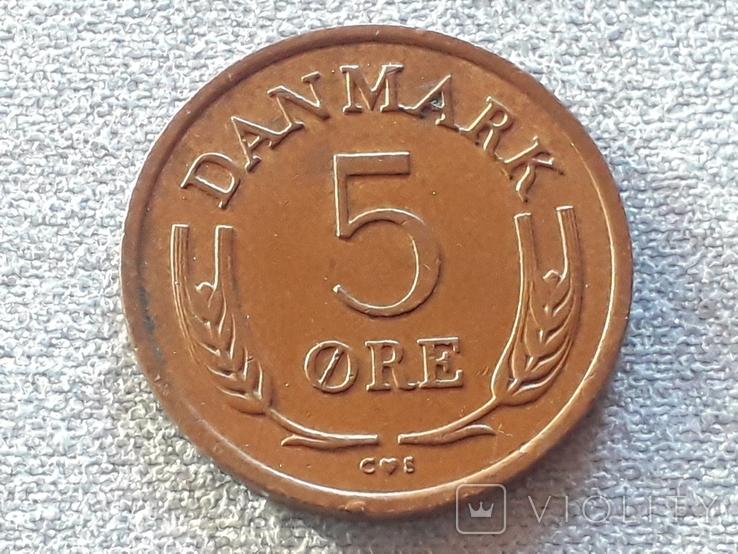 Дания 5 эре 1963 года, фото №2