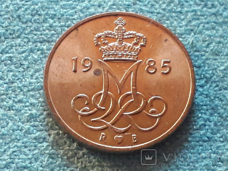 Дания 5 эре 1985 года, фото №3