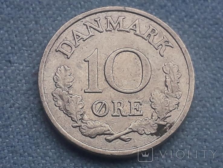 Дания 10 эре 1961 года, фото №2