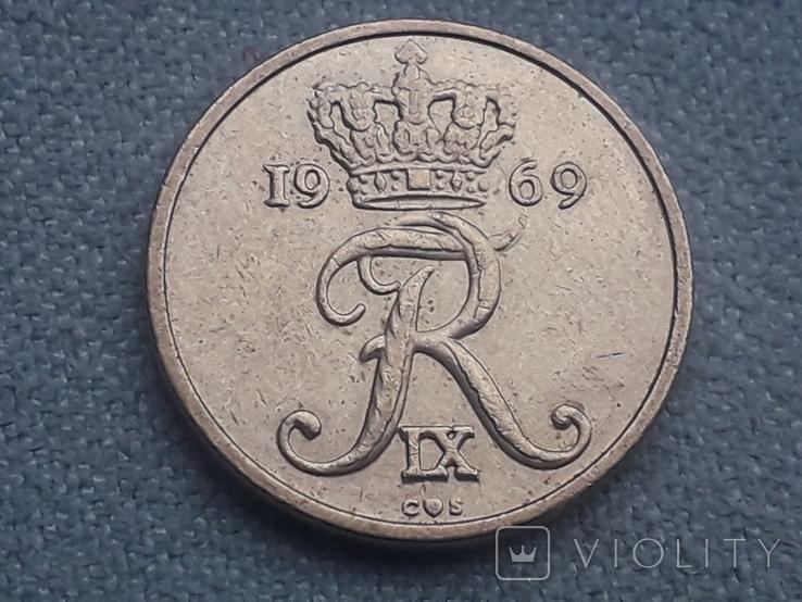 Дания 10 эре 1969 года, фото №3