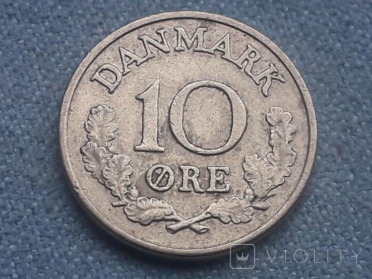 Дания 10 эре 1967 года, фото №2