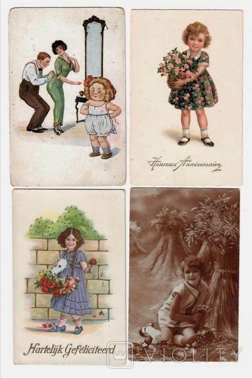 4 листівки 1910-20х на дитячу тематику, фото №2
