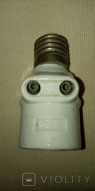 Патрон фарфоровый с розеткой, 6 Аmp, 250 V, фото №5