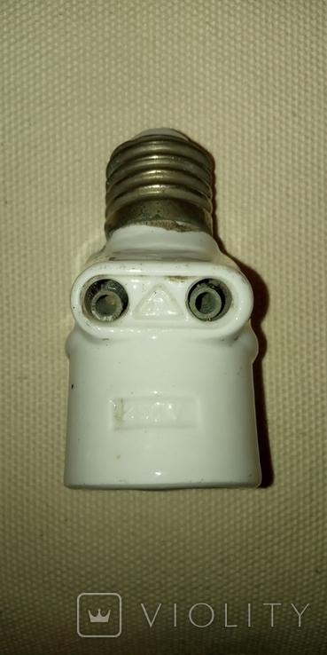 Патрон фарфоровый с розеткой, 6 Аmp, 250 V, фото №6