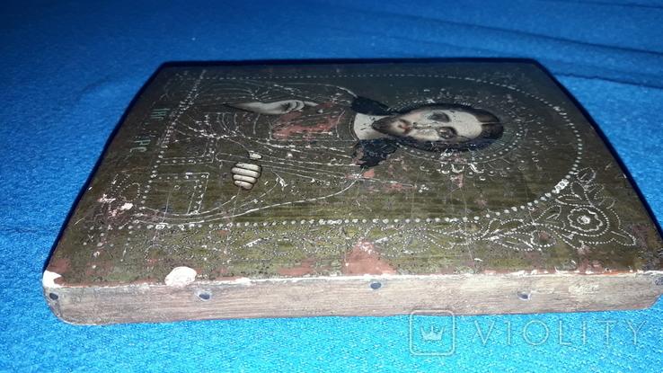 Старая икона Иисус Христос, фото №4