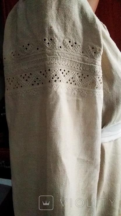 Старинная  вышиванка белым по белому с вырезанием., фото №2