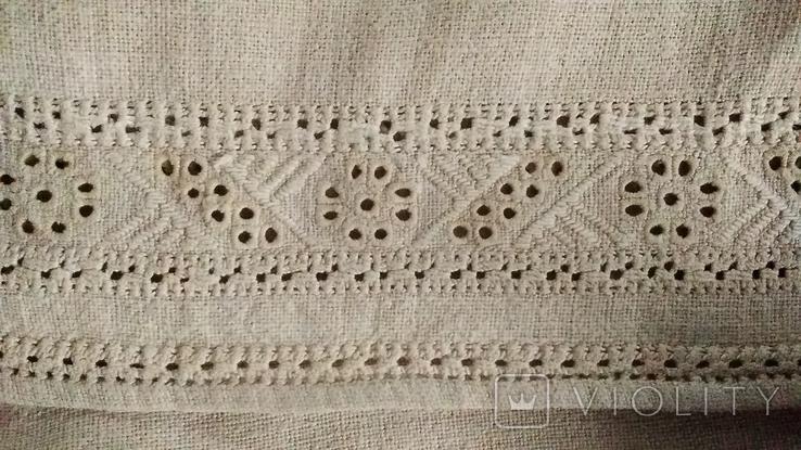 Старинная  вышиванка белым по белому с вырезанием., фото №8