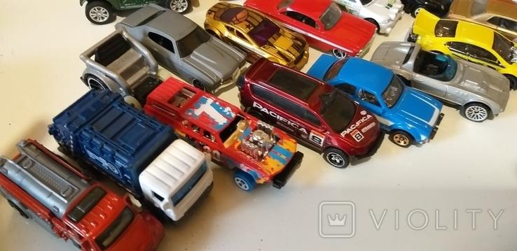 Коллекция машин HOT WHEELS грузовые с прицепом, легковые, и др. в кол. 40шт, фото №3