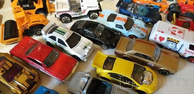 Коллекция машин HOT WHEELS грузовые с прицепом, легковые, и др. в кол. 40шт, фото №4