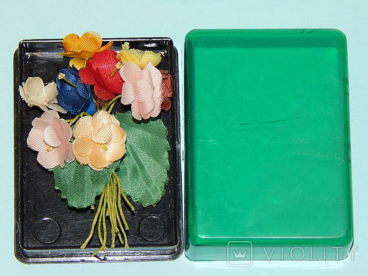 Брошка искусственные цветы ГДР, фото №9