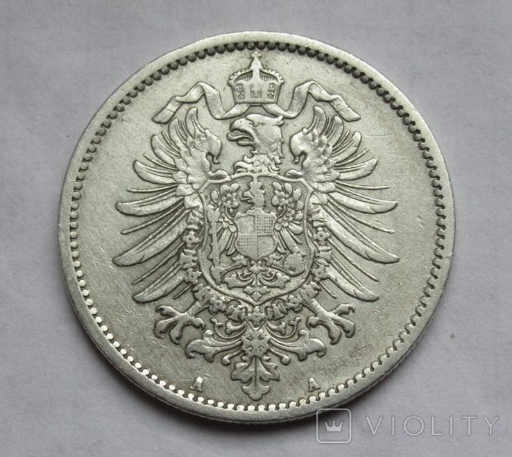1 марка 1887 г. (А) Германия, серебро, фото №5