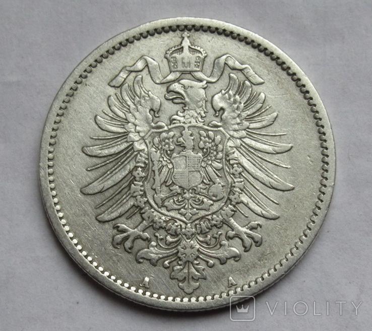 1 марка 1887 г. (А) Германия, серебро, фото №7
