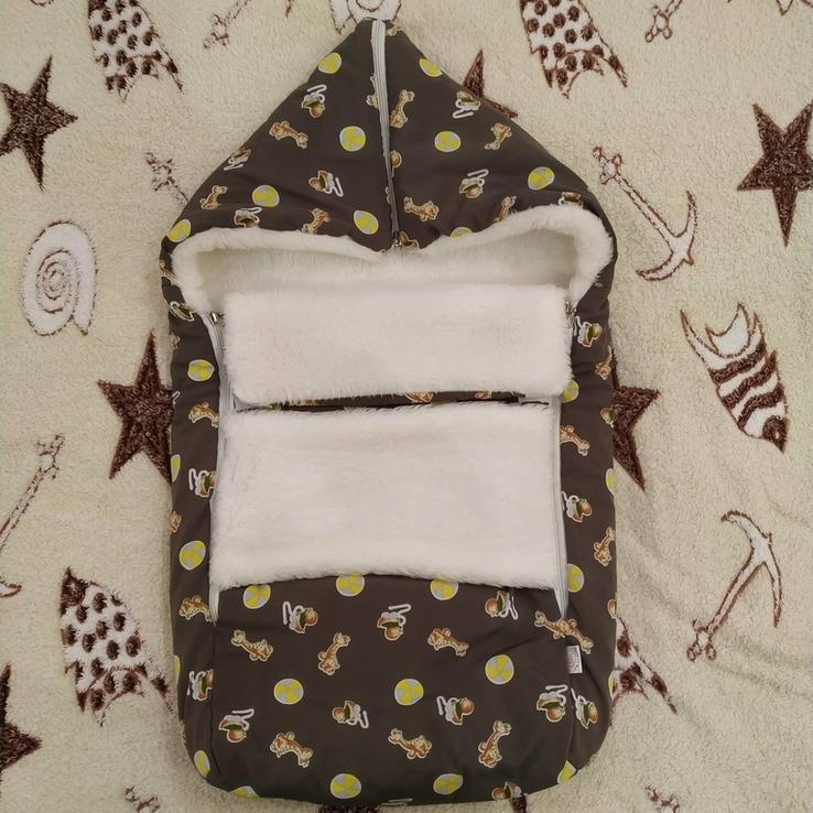 Конверт для новорожденных, меховой., фото №2