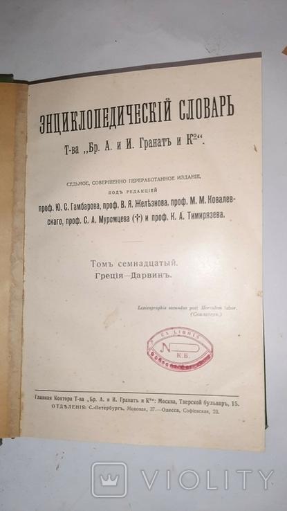 Энциклопедический словарь Гранат. Том 17, фото №2