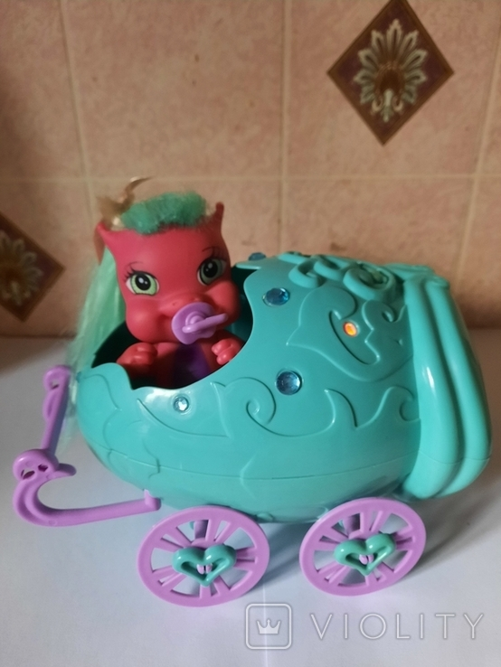 Дракон и коляскa (яйцо) трансформер Sitara из серии Mistic babies, фото №2